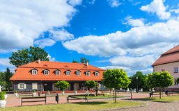 Teren kościół Święta trójca Liskiava Lithuania zdjęcie stock