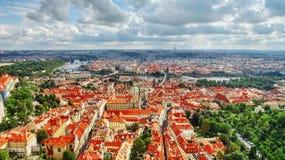 Teren Lesser miasteczko Praga (Mala Strana) zdjęcia stock