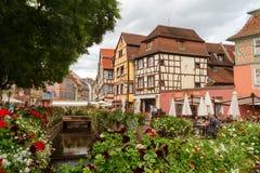 Teren Mały Wenecja w Colmar Zdjęcie Royalty Free