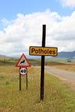 teren odizolowywał pedestrians zabraniających ograniczających drogowych znaki drogowy Fotografia Royalty Free