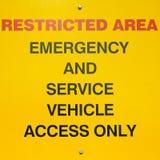 teren ograniczający znak Zdjęcie Royalty Free
