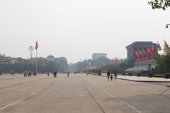Teren przy mauzoleumem Ho Chi Minh miasto, Hanoi Obrazy Stock