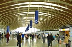 Teren Terminal Dwa Pudong lotnisko międzynarodowe Szanghaj Zdjęcie Royalty Free