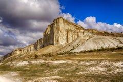 Teren w Crimea dzwonił Belaya Scala, biel skała fotografia stock
