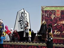 Teren w mieście Osh Kirgistan Fotografia Royalty Free