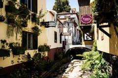 Teren wokoło Santa Maria ulicy w Funchal na wyspie Madiera Obrazy Stock