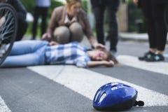 Teren wypadek samochodowy zdjęcie royalty free