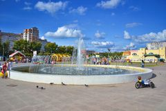 Teren z fontanną Obrazy Royalty Free