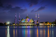кристаллической terengganu Малайзии снятое мечетью принятое было Стоковое фото RF