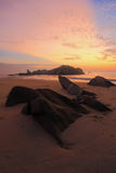 Terengganu con il raggio di luce da alba Fotografia Stock Libera da Diritti