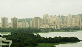terenu budynków wysoki powstający miastowy Fotografia Stock