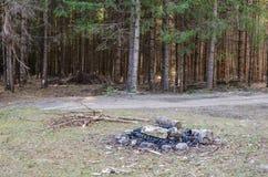 terenu camping obraz stock