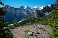 terenu Canada jezioro Louise Zdjęcia Stock