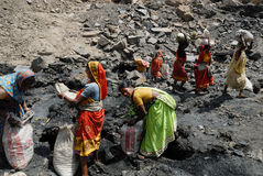 terenu coalmines ind jharia ludzie Zdjęcia Stock