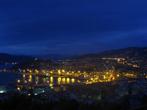 terenu Galicia portowy region Spain Vigo Obrazy Royalty Free