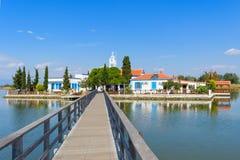 terenu Greece Lagos monasteru Nikolaos Porto święty Thrace Porto Lagos teren przy Thrace, Grecja Obraz Royalty Free