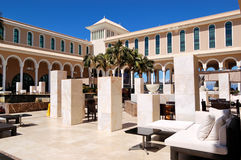 terenu hotelowy holu luksus plenerowy obrazy stock