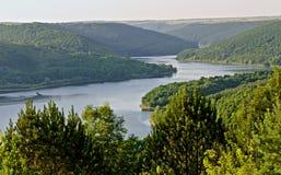 terenu kaljus khmelnitskiy rzeczny mały Ukraine Obrazy Royalty Free
