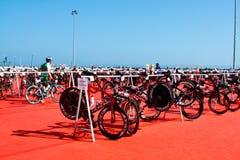 terenu kolarstwa przemiany triathlon strefa Zdjęcie Royalty Free