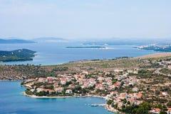 terenu linii brzegowej Dalmatia sibenik Zdjęcia Royalty Free