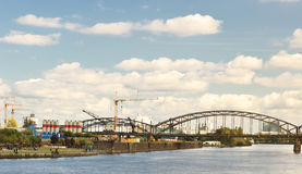 terenu miasto Frankfurt przemysłowy Zdjęcie Royalty Free
