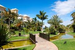 terenu odtwarzanie hotelowy luksusowy Zdjęcia Stock