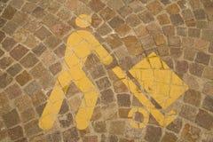 terenu parking znaka rozładunek Obraz Royalty Free