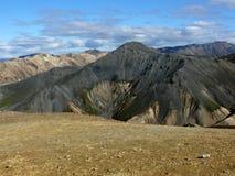 terenu sławnych koni Iceland sławny landmannalaugar gór rhyolite kołysa powulkanicznego Fotografia Royalty Free