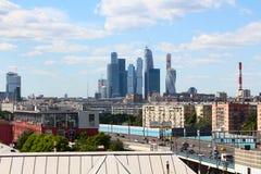 06/12/2015 terenu tła centrum miasta projektów fontanny Kiev metalu Moscow Russia zakupy stacja tam który Widok Moskwa miasto od Zdjęcie Stock