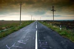 terenu wiejski środkowy drogowy Obrazy Stock