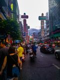 Terenu yaowarat Bangkok fotografia royalty free