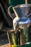 Terere cold mate herb drink in Paraguay Stock Photo