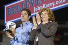 Teresa Heinz Kerry and son applaud at the Thomas Mack Center at UNLV, Las Vegas, NV Stock Photos