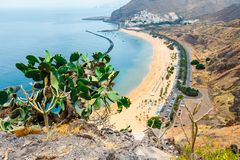 Teresitas beach near Santa Cruz de Tenerife, Spain. Teresitas beach near Santa Cruz de Tenerife, Canary islands, Spain Royalty Free Stock Photos
