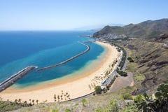 Teresitas beach near Santa Cruz, Tenerife, Canary islands, Spain royalty free stock photo