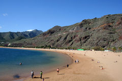 Teresitas beach of Tenerife. Island, Canarias Royalty Free Stock Photos