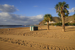 Teresitas beach of Tenerife Royalty Free Stock Image