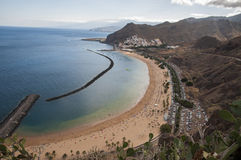 Teresitas beach of Tenerife Stock Image