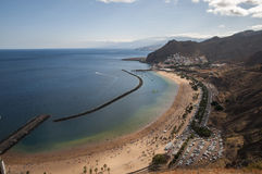 Teresitas beach of Tenerife Stock Photo