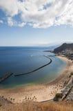 Teresitas beach of Tenerife Royalty Free Stock Photography