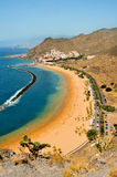 Teresitas Beach in Tenerife, Canary Islands, Spain. A view of picturesque Teresitas Beach in Tenerife, Canary Islands, Spain Royalty Free Stock Photography