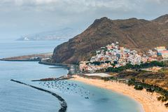 Teresitas plaża blisko Santa Cruz de Tenerife, Hiszpania fotografia royalty free