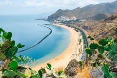 Teresitas plaża blisko Santa Cruz de Tenerife, Hiszpania Zdjęcia Royalty Free