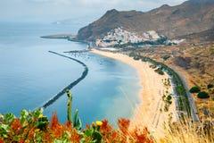 Teresitas plaża blisko Santa Cruz de Tenerife, Hiszpania Fotografia Stock