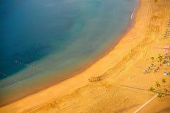 Teresitas strand i Santa Cruz de Tenerife Royaltyfri Bild