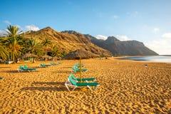 Teresitas strand nära Santa Cruz de Tenerife Royaltyfria Foton