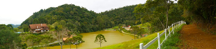 Teresopolis krajobraz Zdjęcie Stock