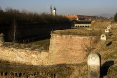 Terezín. Winter in the fortress town of Terezin Stock Image