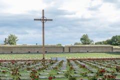 Terezin战争公墓 免版税库存图片
