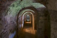 Terezin-Gefängnismauertunnels lizenzfreies stockfoto